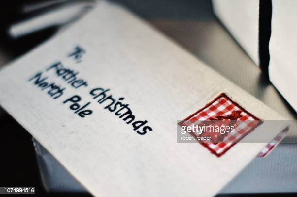 letter to father christmas - list stock pictures, royalty-free photos & images