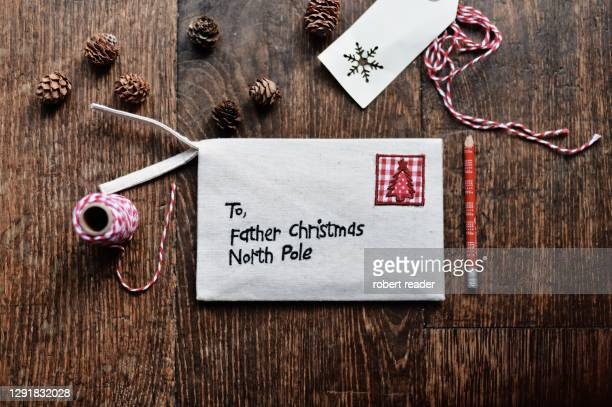 letter to father christmas - mail stock pictures, royalty-free photos & images