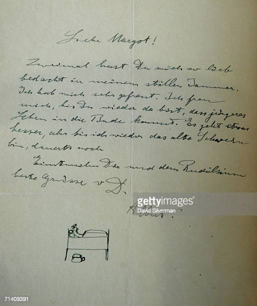 A letter to his daughter Margot and signed by Albert Einstein is seen as part of a collection made public by the Albert Einstein Archives at the...