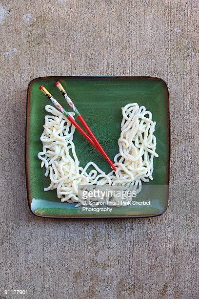 letter u for udon noodles - letter u stock photos and pictures