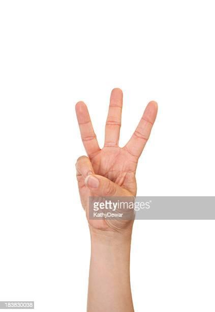 letra w em língua de sinais norte-americana - letra w - fotografias e filmes do acervo