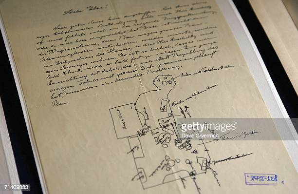 A letter written by Albert Einstein is seen as part of a collection made public by the Albert Einstein Archives at the Hebrew University July 10 2006...