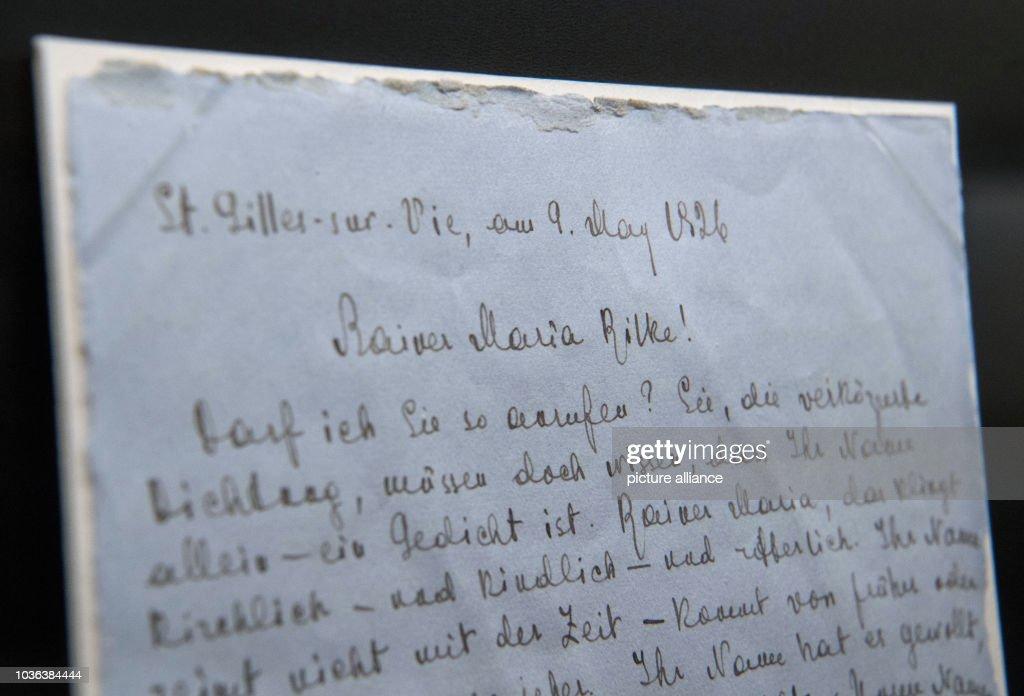 A Letter Written By Marina Tsvetaeva To Rainer Maria Rilke