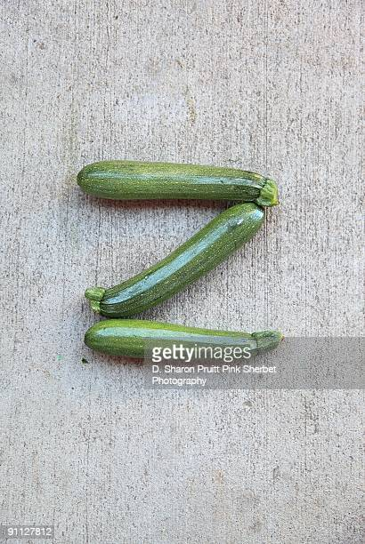 Letter Z for Zucchini