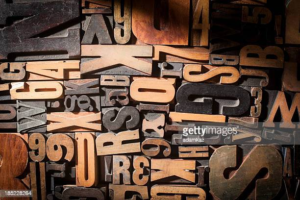 letterpress blocks background - font stock pictures, royalty-free photos & images