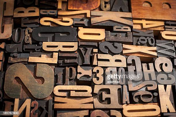 Typographie pâtés de maison en arrière-plan