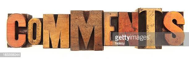 Letterpress - Comments