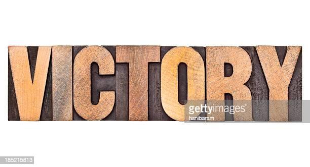 La victoire typographie des lettres