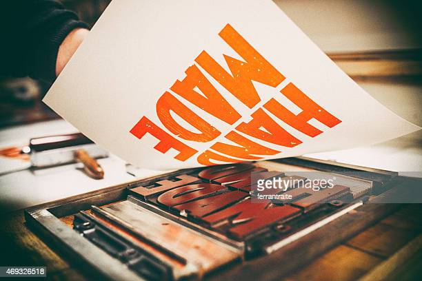 letterpress printing - typography stock photos and pictures
