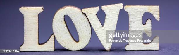 Letters and the word love