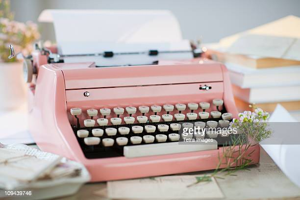 Letters by antique typewriter