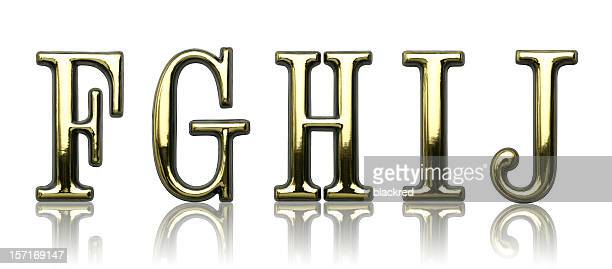 Letters - F G H I J