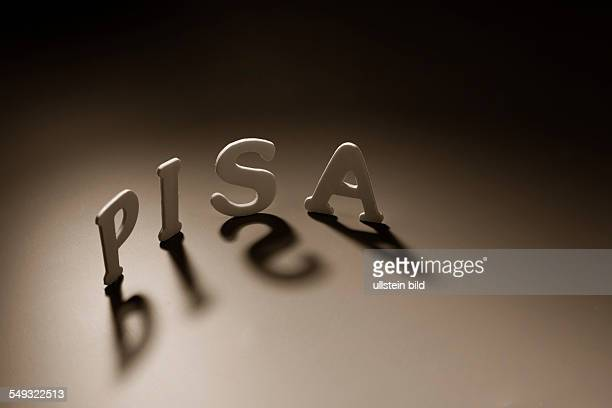 Letters forming the word PISA