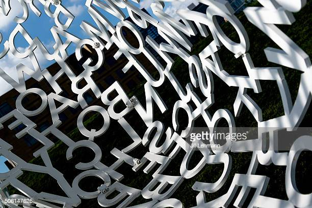"""Letters in """"the Nomad"""" - sculpture park in Des Moines, Iowa"""