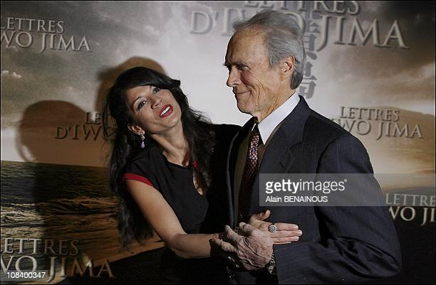 Letters of Iwo Jima with Clint Eastwood and his wife Dina on February 14 2007