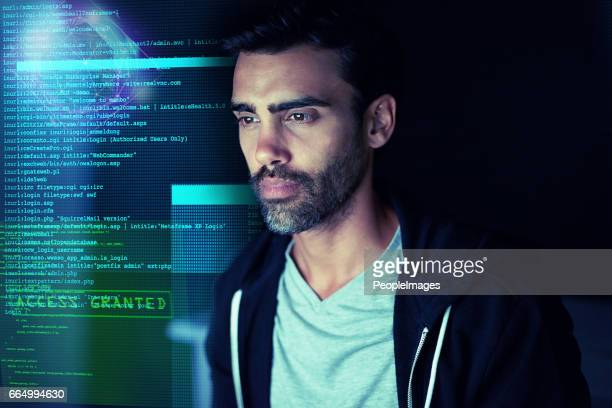 Letting himself get lost in the code