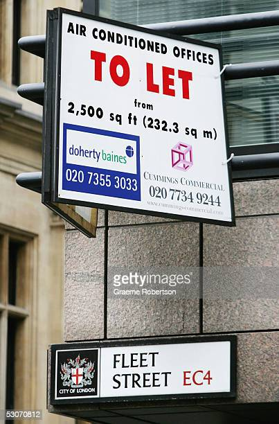 Letting sign is aptly placed above the Fleet Street place name as today marks the end of an era in the history of major news organisation June 15 in...