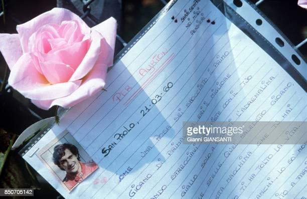 Lettre d'une admiratrice appartenant au pilote Ayrton Senna en 1994 Brésil