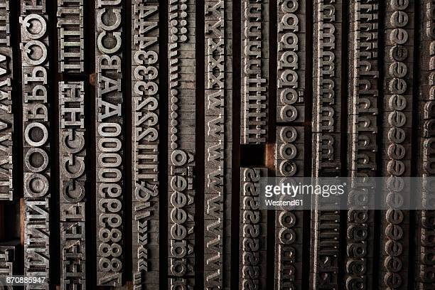 Lettrs in typesetting shop