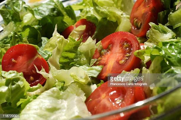 lettuce and tomato salad season - tempio pausania stock-fotos und bilder