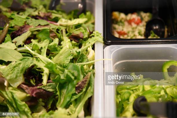 Lettuce and vegetables are available and encouraged at the salad bar for students at Casey Middle School in Boulder September 07 2017