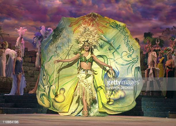 Letty Murray Miss Mexico 2000 shows off why she won the National Costume Competition during the Presentation Show for the 2000 Miss Universe Pageant...