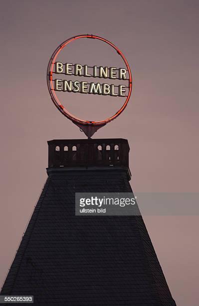 Leuchtreklame des Berliner Ensembles