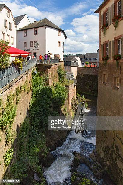 leuk river cascading down to mill museum - merten snijders stock pictures, royalty-free photos & images