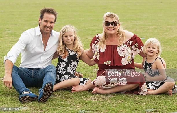 Leukemia Cancer Survivors Brandon Phillips Piper Apfel Visse Wedell at International Polo Club Palm Beach on January 16 2017 in Wellington Florida