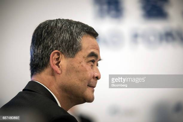 Leung Chunying Hong Kong's chief executive attends the Boao Forum for Asia Annual Conference 2017 in Boao China on Friday March 24 2017 The annual...