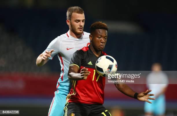 20170905 Leuven Belgium / Uefa U21 Euro 2019 Qualifying Belgium v Turkey / 'nErtugrul ERSOY Aaron LEYA ISEKA'nPicture by Vincent Van Doornick /...