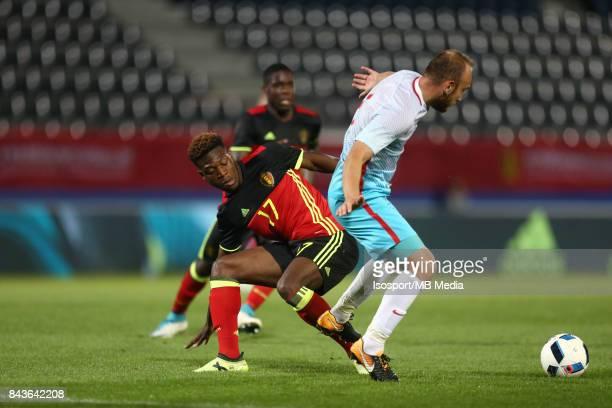 20170905 Leuven Belgium / Uefa U21 Euro 2019 Qualifying Belgium v Turkey / 'nAaron LEYA ISEKA Dogan ERDOGAN'nPicture by Vincent Van Doornick /...