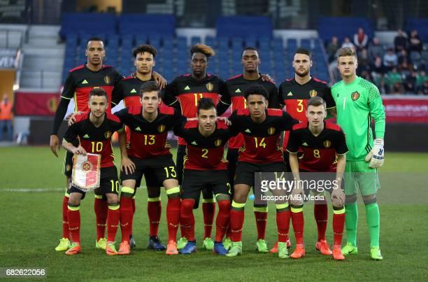 20170327 Leuven Belgium / Uefa U21 Euro 2019 Qualifying Belgium vs Malta / Back row Senna MIANGUE Samy MMAEE Isaac MBENZA Julien NGOY Mathias...