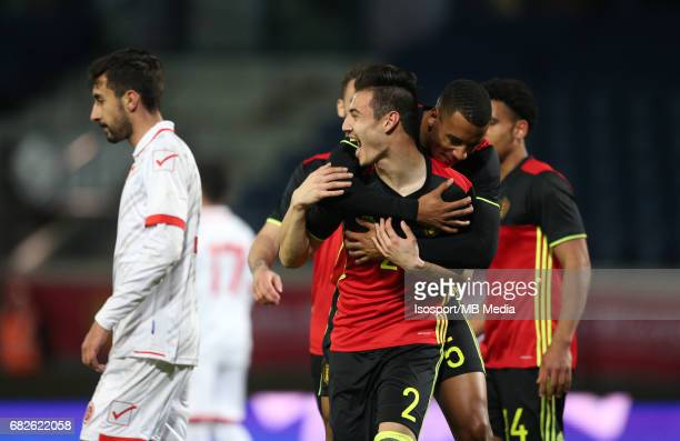 20170327 Leuven Belgium / Uefa U21 Euro 2019 Qualifying Belgium vs Malta / Dion COOLS Senna MIANGUE Vreugde Joie Celebration Picture by Vincent Van...