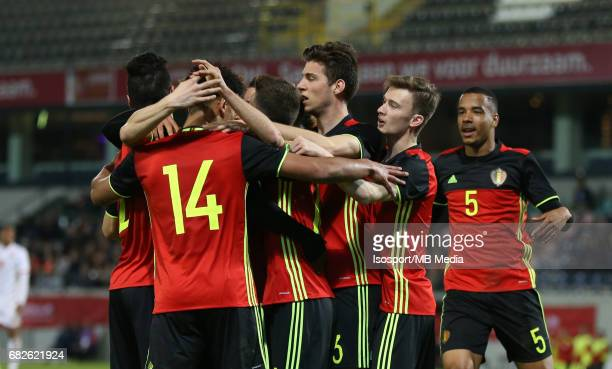 20170327 Leuven Belgium / Uefa U21 Euro 2019 Qualifying Belgium vs Malta / Ryan MMAEE Vreugde Joie Celebration Picture by Vincent Van Doornick /...