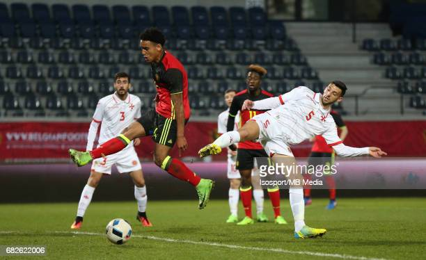 20170327 Leuven Belgium / Uefa U21 Euro 2019 Qualifying Belgium vs Malta / Ryan MMAEE Dunstan VELLA Picture by Vincent Van Doornick / Isosport