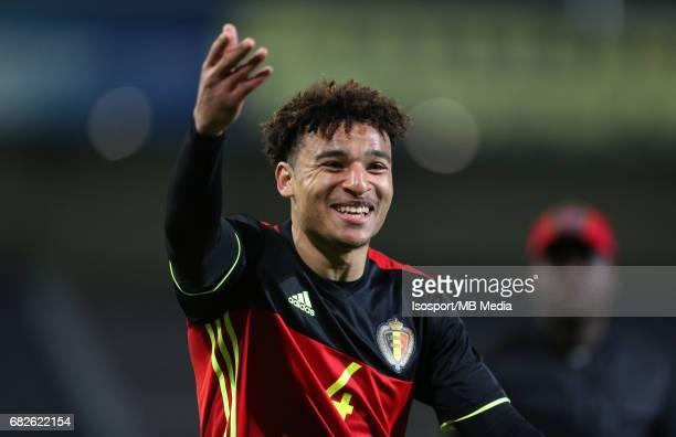 20170327 Leuven Belgium / Uefa U21 Euro 2019 Qualifying Belgium vs Malta / Samy MMAEE Vreugde Joie Celebration Picture by Vincent Van Doornick /...
