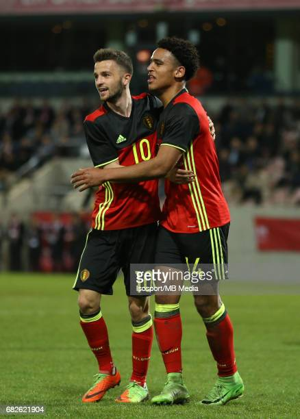 20170327 Leuven Belgium / Uefa U21 Euro 2019 Qualifying Belgium vs Malta / Siebe SCHRIJVERS Ryan MMAEE Vreugde Joie Celebration Picture by Vincent...