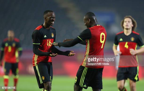 20171109 Leuven Belgium / Uefa U21 Euro 2019 Qualifying Group 5 Belgium v Cyprus / 'nDodi LUKEBAKIO Nany DIMATA Celebration'nPicture by Vincent Van...