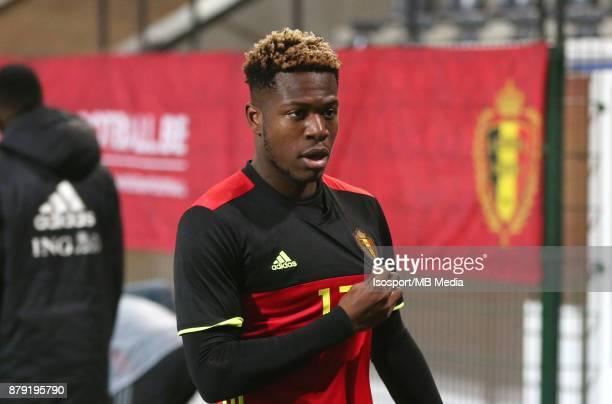 20171109 Leuven Belgium / Uefa U21 Euro 2019 Qualifying Group 5 Belgium v Cyprus / 'nAaron LEYA ISEKA Celebration'nPicture by Vincent Van Doornick /...