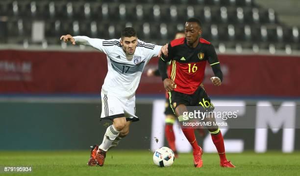 20171109 Leuven Belgium / Uefa U21 Euro 2019 Qualifying Group 5 Belgium v Cyprus / 'nIoannis KOUSOULOS Dodi LUKEBAKIO'nPicture by Vincent Van...