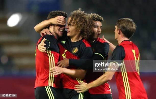 20171006 Leuven Belgium / Uefa U21 Euro 2019 Qualifying Group 5 Belgium v Sweden / 'nJordi VANLERBERGHE Wout FAES Celebration'nPicture by Vincent Van...