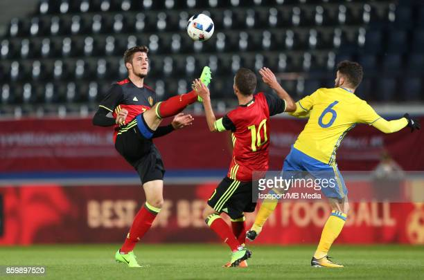 20171006 Leuven Belgium / Uefa U21 Euro 2019 Qualifying Group 5 Belgium v Sweden / 'nJordi VANLERBERGHE Siebe SCHRIJVERS Erdal RAKIP'nPicture by...