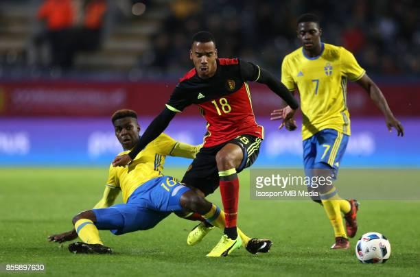 20171006 Leuven Belgium / Uefa U21 Euro 2019 Qualifying Group 5 Belgium v Sweden / 'nJoel ASORO Senna MIANGUE'nPicture by Vincent Van Doornick /...