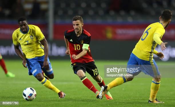 20171006 Leuven Belgium / Uefa U21 Euro 2019 Qualifying Group 5 Belgium v Sweden / 'nIsak SSEWANKAMBO Siebe SCHRIJVERS Erdal RAKIP'nPicture by...