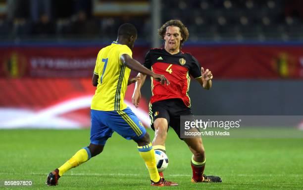 20171006 Leuven Belgium / Uefa U21 Euro 2019 Qualifying Group 5 Belgium v Sweden / 'nIsak SSEWANKAMBO Wout FAES'nPicture by Vincent Van Doornick /...