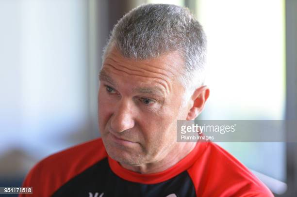 Leuven manager Nigel Pearson during the OHL Leuven press conference on May 3rd 2018 in Leuven Belgium