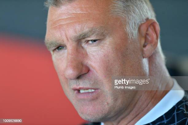 Leuven Manager Nigel Pearson during the OHL press conference on August 02 2018 in Leuven Belgium