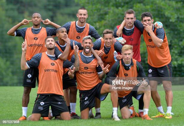 Leuven players Back Row Yanick Aguemon Kenneth Schuermans Laurent Henkinet Clement Fabre Front Samy Kehli Frederic Duplus Esteban Casagolda David...