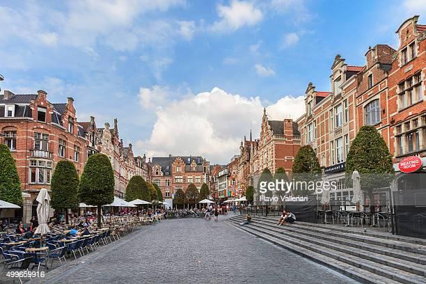 leuven - the oude markt, belgium - leuven stock pictures, royalty-free photos & images